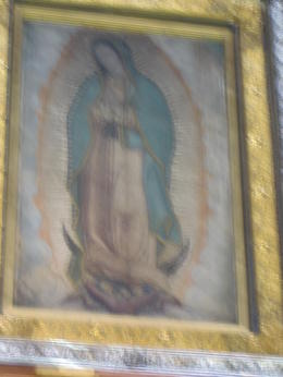 The real Our Lady of Guadalupe in the new shrine! , Chris K - April 2014