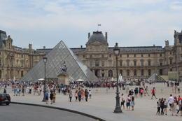 Outside the Louvre , Amy-Jo W - July 2014