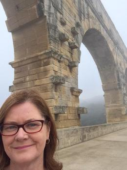 Surreal experience walking the bridge at Pont du Gard. , Sueinisa - January 2015