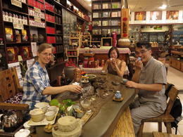 Our guide and tea master!, Cat - August 2012