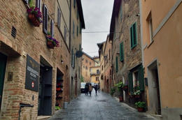 One of Montepulciano's narrow winding roads - July 2013