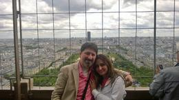 Yasser and Dalia at the Eiffel Tower, picture taken by our great tour guide Justin , Yasser B - May 2014