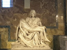 Pieta by Michaelangelo the only piece ever signed , laychin n - July 2017