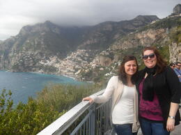 Sisters at the Amalfi Coast in Italy , Amanda - November 2011