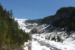 One of many beautiful spots on the way to Paradise, Mount Rainier. , loretta.noriega - May 2012