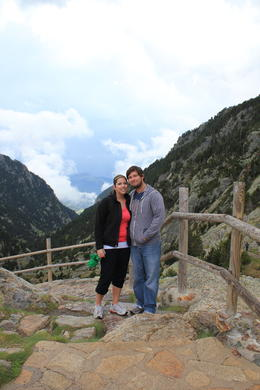 My husband and I in the Pyrenees! , Lindsey - May 2011