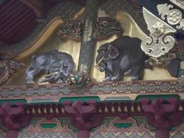 Imaginary Elephants sculpture at Tosho-gu , Steve R - July 2014