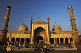 Jama Masjid is the largest and best known mosque in Old Delhi with a courtyard that can accommodate 25,000 worshippers - November 2011