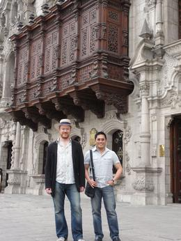 Us continuing to enjoy the historic center of Lima. , Thomas S - June 2011