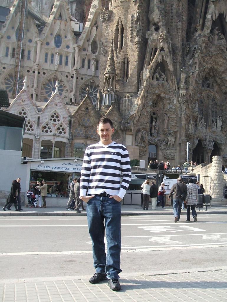 Me outside La Sagrada Familia - Barcelona