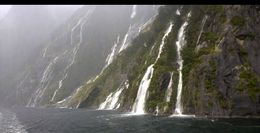 Waterfalls in Milford Sound , Daniel S - July 2016