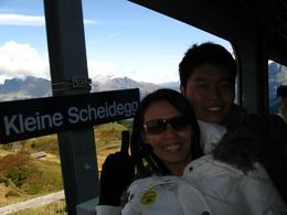 The tour guide helped us to take this picture...we have passed by Kleine Scheidegg., Cheai Ting H - October 2008