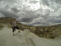 View from top of the white sand dune (not really sand anymore, all rock), Patricia P - July 2014