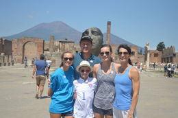 Family shot on our day trip to Pompeii and the hike up Vesuvius , Thomas S - August 2016