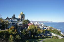 Beautiful day in Quebec City with view of Old Port (Vieux-Port) - December 2011