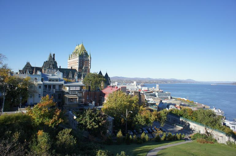 Quebec City with view of Old Port (Vieux-Port) - Quebec City