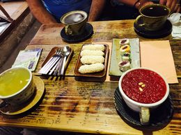 The tea shop real deal tea. Yum! , Mariella C - May 2015