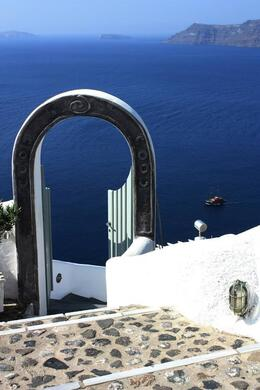 Santorini from Fira, SCV - March 2014