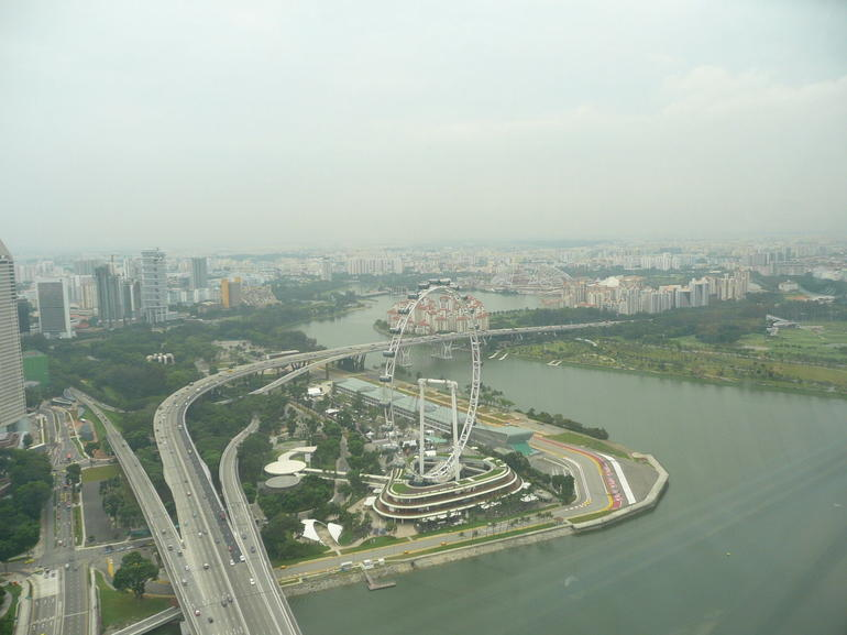 Singapore Flyer from Marina Sands hotel - Singapore