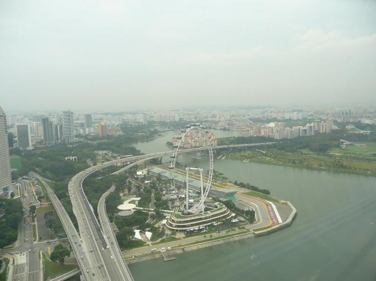 Singapore Flyer from Marina Sands hotel - Singapore