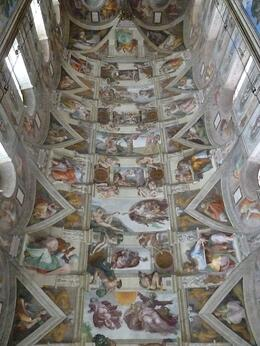 This is the ceiling of the sisteen chapel. Stunning! No photographs allowed ......, Karen A - September 2010