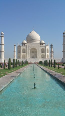 Just one of many Taj Mahal photos as we walked down to it , Katie M - September 2015