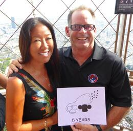 Thanks to Viator, we were able to celebrate our 5 Year Anniversary on the Eiffel Tower!!! , lshiraki - October 2014