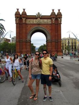 In front of arc de triomph , Allison N - September 2012