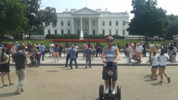 Thanks to my guide for snapping this picture in front of The White House , Brian K - August 2015