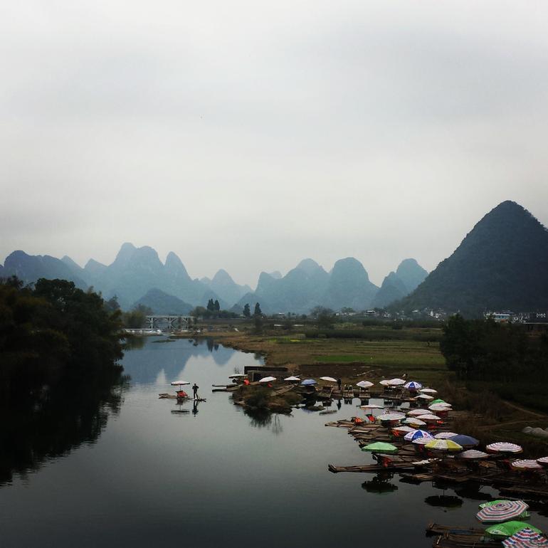 Beautiful view from Dragon Bridge, Yaoshan (extra activity) - Guilin