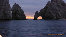 ROCKS OF CABO SAN LUCAS ON SUNSET CRUISE , Joe R - February 2014