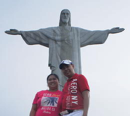In front of the image of Cristo Redentor , GERRYVALE - September 2012