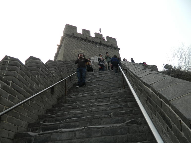 Climbing the Great Wall at Badaling - Beijing