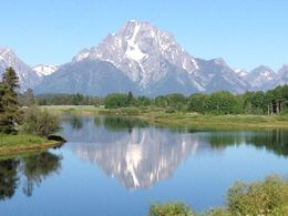 Grand Teton Mountains reflected in the Snake River , Paige K - July 2015