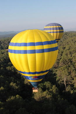 Hot Air Balloon Flight over Catalonia - February 2012