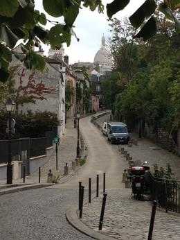 Walking throuhg Montmatre with Sacre Ceour in the background. , Deanna D - September 2014