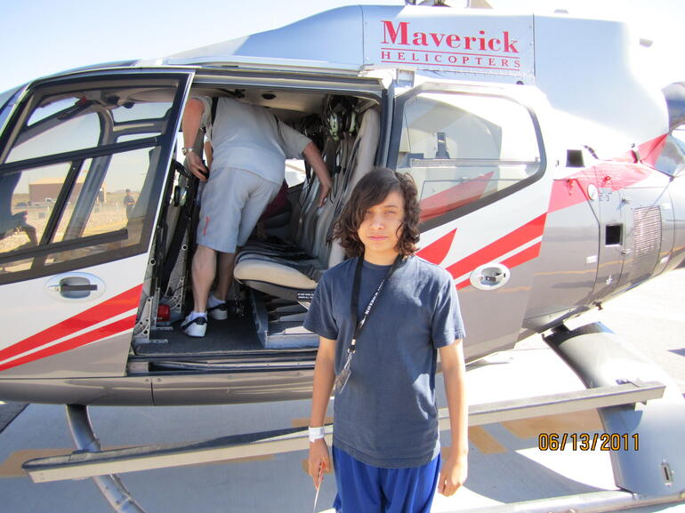 Our helicopter from the West RIm - Las Vegas