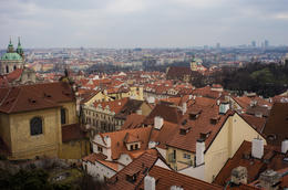 Wonderful view of Prague from the Castle in Prague, one of the key stops and guided tours on the HO-HO route. Very nice tour! , Barry T - April 2013