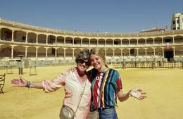 Wife and granddaughter visiting Ronda bullring. , Ted I - January 2018