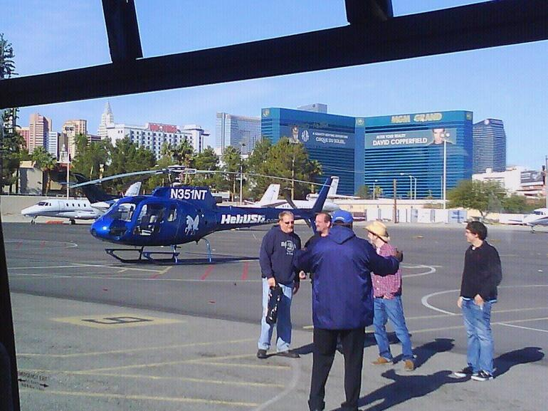 At the heliport - Las Vegas