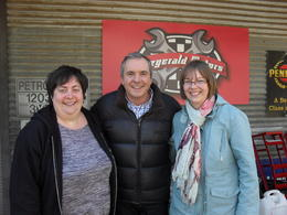 Lois, Alan and Ruth , after Ramsay St we visited the studio where we met Dr Karl! , Ruth H - August 2013