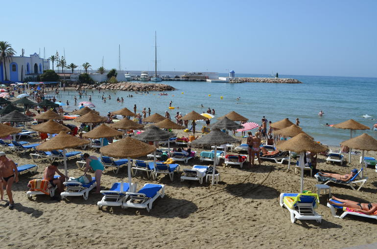 Beach near port - Costa del Sol