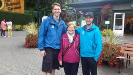 Happy customer with tour guides. , Brian K - October 2014