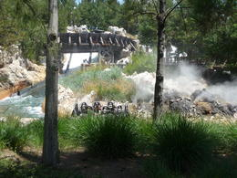 Enjoying a splash landing on Grizzly River Run, Trina Tron - June 2012