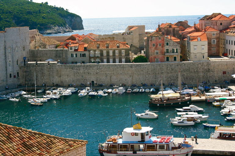Harbor in Dubrovnik, Croatia -
