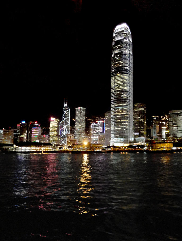 Harbour at night - Hong Kong