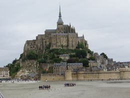 A picture of Mont Saint-Michel from the bridge leading up to it. , howardtopher - June 2016