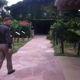 Walking into the winery, Kierra - August 2014