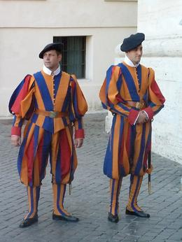 The vaticaln city security focre, Swiss Guards. A colourful sight!, Karen A - September 2010