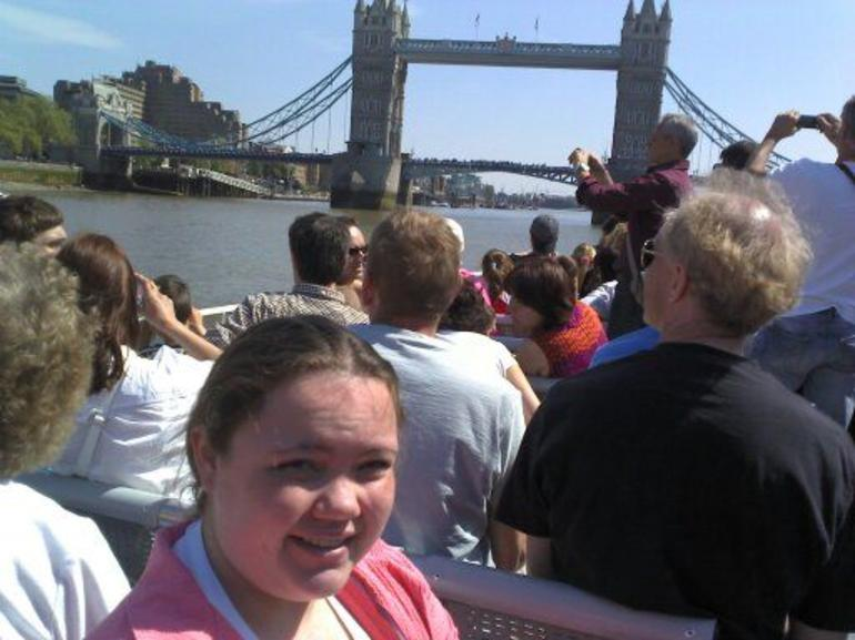 Thames river cruise, looking at London bridge - London